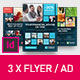 Corporate Business Universal Flyer/ad 3x Square Dark Indesign Template