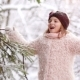 A Beautiful School Girl Shakes Snowflakes From Her Fur Coat. First Snow - VideoHive Item for Sale