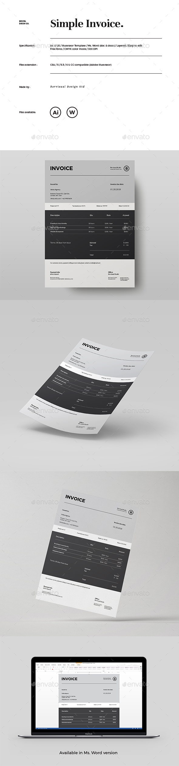 GraphicRiver Simple Invoice 21137619