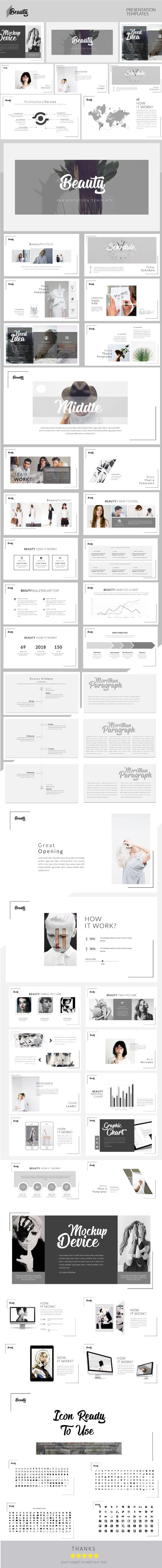 Beauty - Multipurpose Presentation Templates - Business PowerPoint Templates