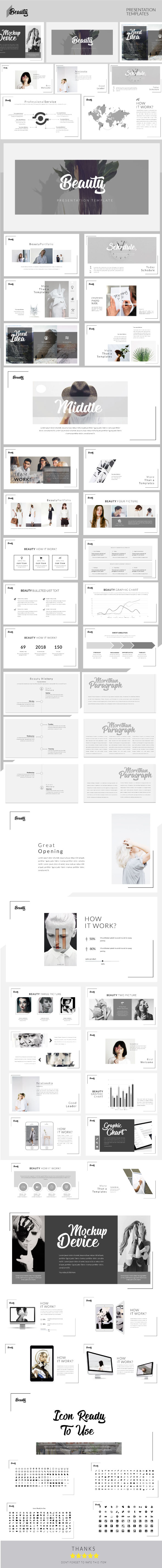 Beauty - Keynote Presentation Templates - Keynote Templates Presentation Templates