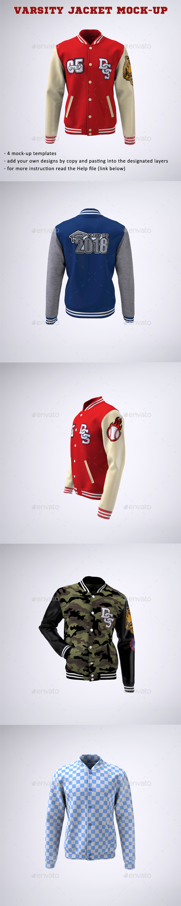 GraphicRiver Varsity Baseball Bomber Jacket Mock-Up 21137977