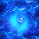Journey Through Abstract Blue Space Tunnel of Nebulae to Big Blue Star - VideoHive Item for Sale