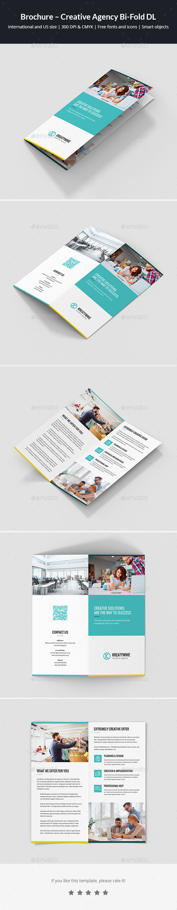 GraphicRiver Brochure Creative Agency Bi-Fold DL 21138085