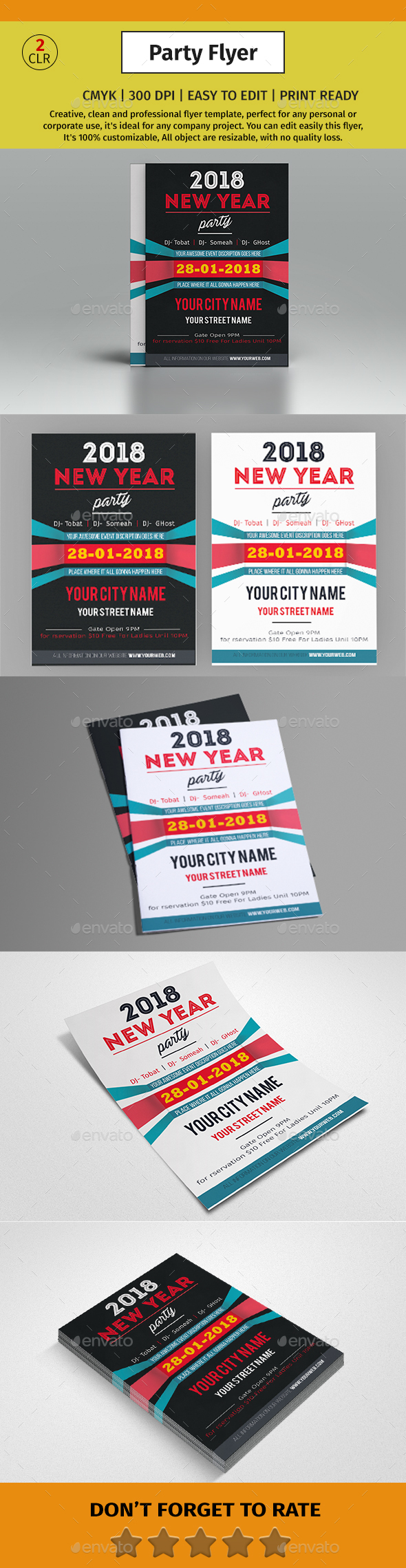 GraphicRiver A4 New Year Party Flyer #01 21138114
