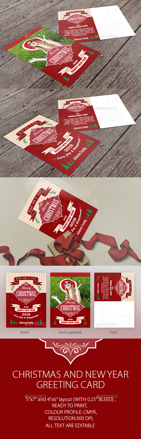 Christmas Greeting Card Vector Illustration - Christmas Greeting Cards