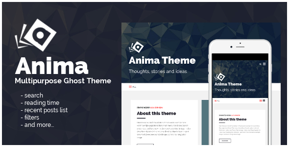 Anima: Multipurpose Ghost Theme - Ghost Themes Blogging