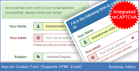 Asp.net Contact Form - HTML Email (Bootstrap Edition) - CodeCanyon Item for Sale