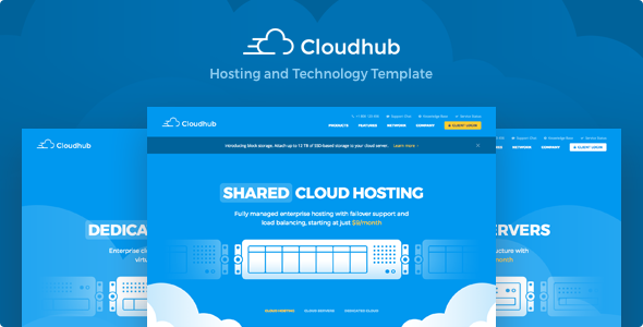 ThemeForest Cloudhub Hosting and Technology HTML Template 21072525