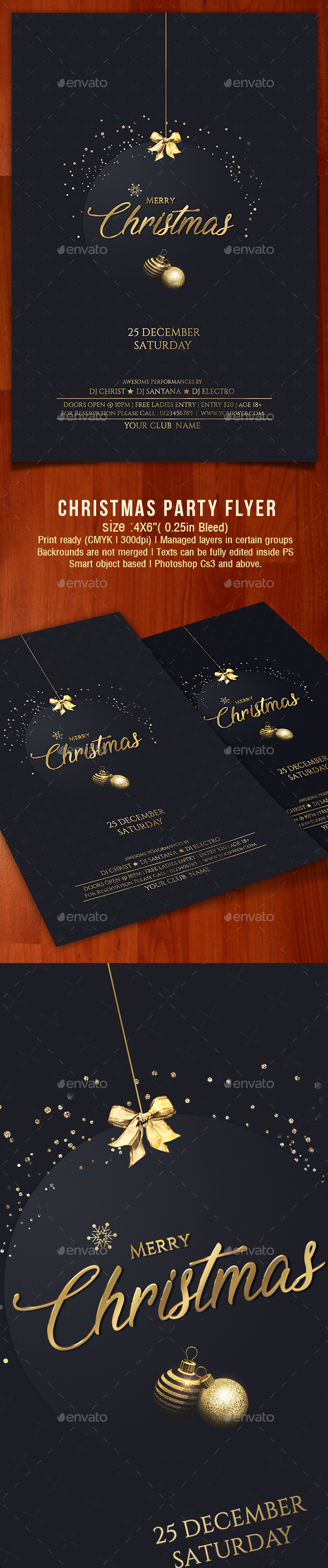 GraphicRiver Christmas Flyer 21138260