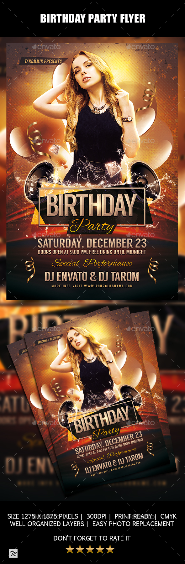 GraphicRiver Birthday Party Flyer 21138286