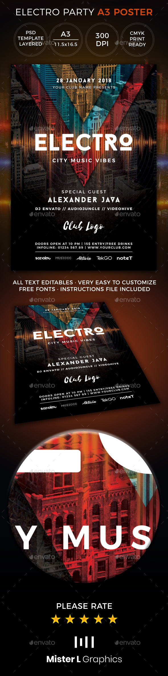 Electro Poster - Clubs & Parties Events
