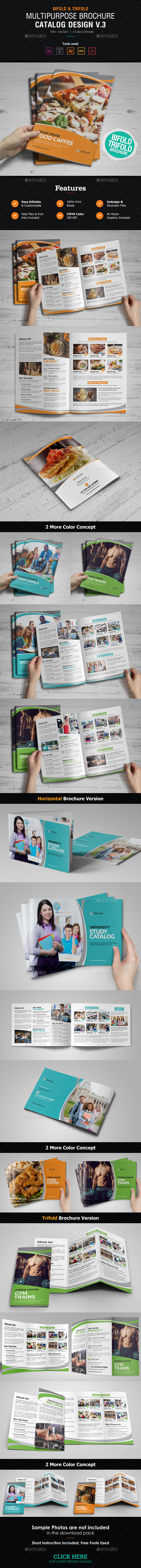 GraphicRiver Multipurpose Brochure Catalog Design v3 21138316