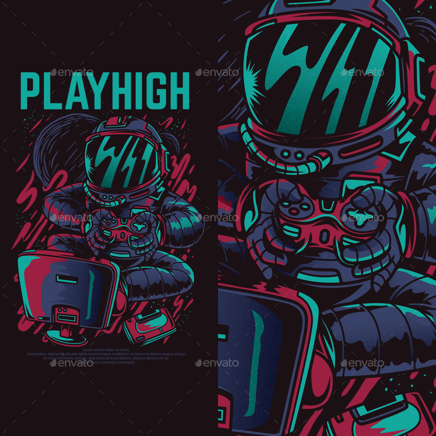 Playhigh T-Shirt Design