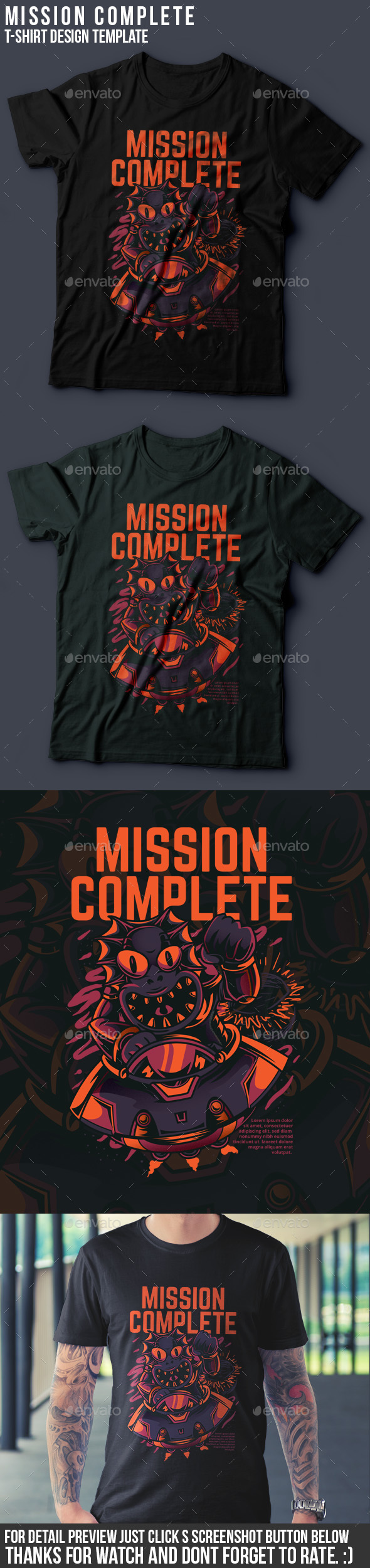 GraphicRiver Mission Complete T-Shirt Design 21138435