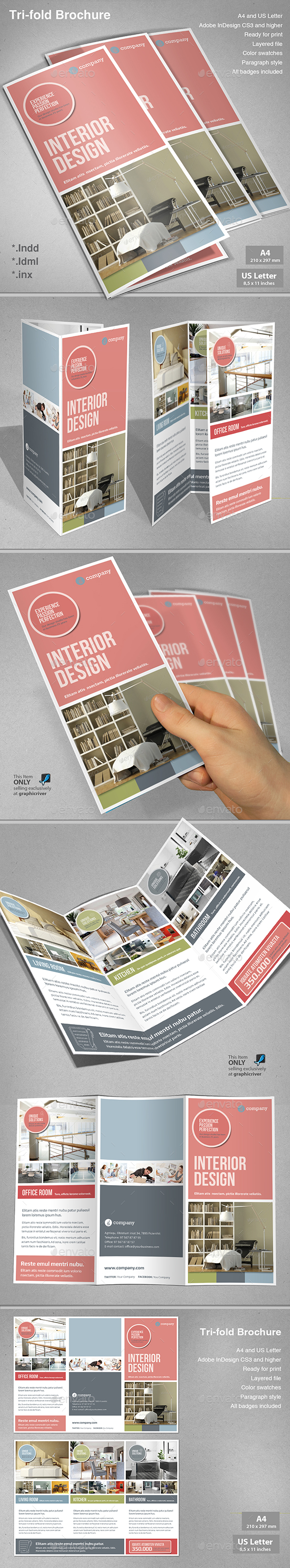 Tri-fold Interior Design - Informational Brochures