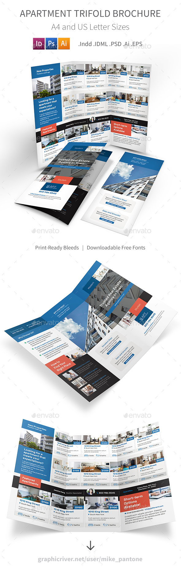 GraphicRiver Apartment For Rent Trifold Brochure 3 21138491