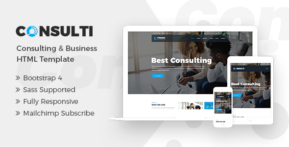 Image of Consulti - Consulting & Business HTML Template