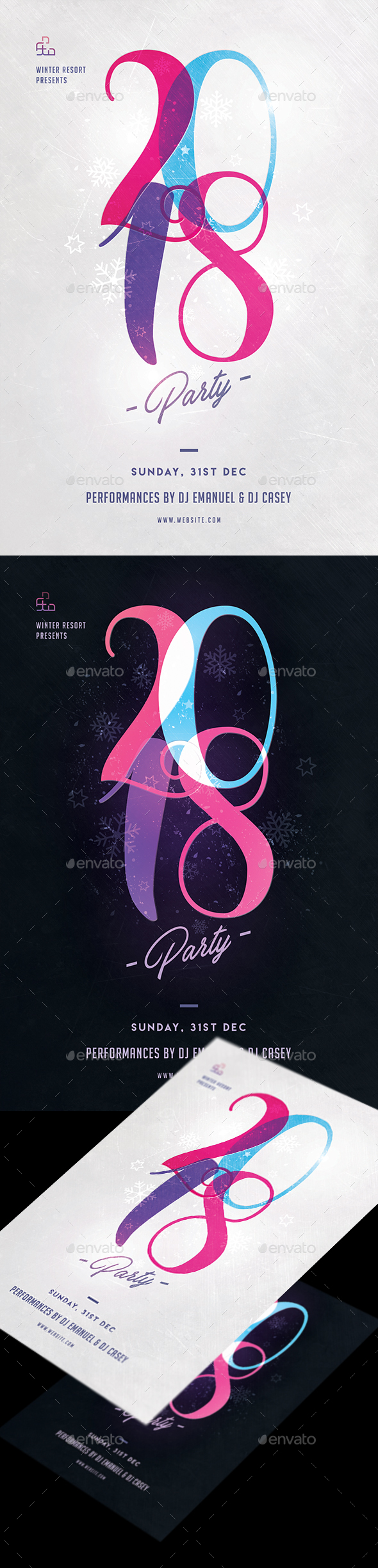 GraphicRiver New Year Party Flyer 21138683