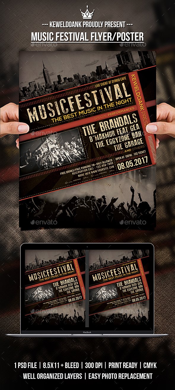 Music Festival Flyer / Poster - Concerts Events