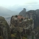 Aerial View of the Meteora Rocky Landscape and Monasteries in Greece. - VideoHive Item for Sale