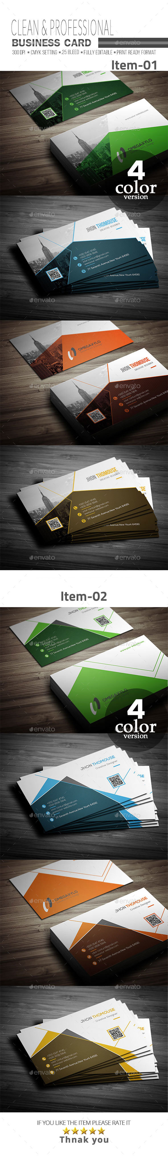 GraphicRiver Business Card Bundle 2 In 1 21138776