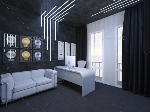 3D Render of Interior Design of an Office - 3D Backgrounds