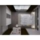 3D Render of a White Bedroom Interior Design