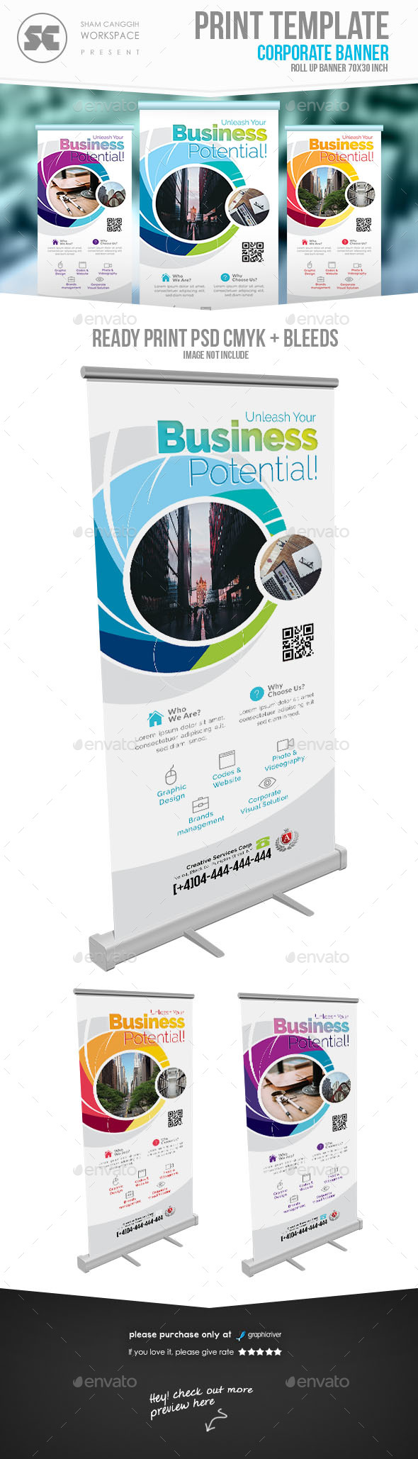 Corporate Banner - Signage Print Templates