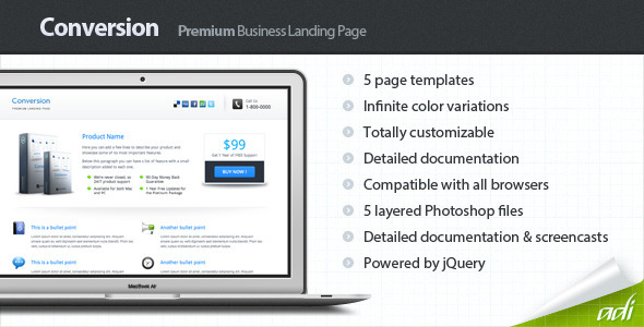 Conversion - Premium Landing Page - Corporate Landing Pages
