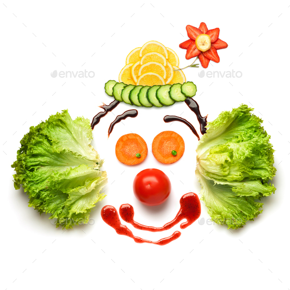 Happy meal for opponents of fast-food. - Stock Photo - Images