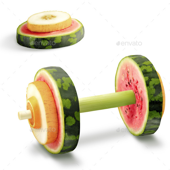 Fruits for sports. - Stock Photo - Images