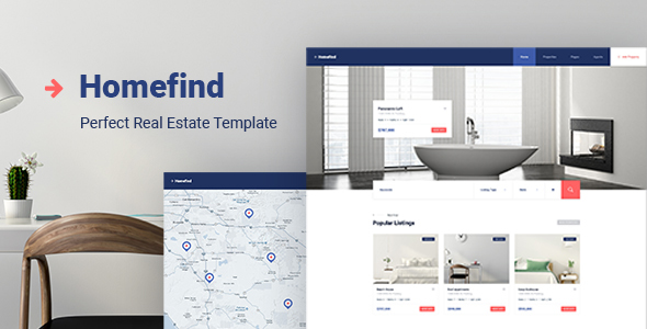 Image of HomeFind - Real Estate Responsive HTML5 Template