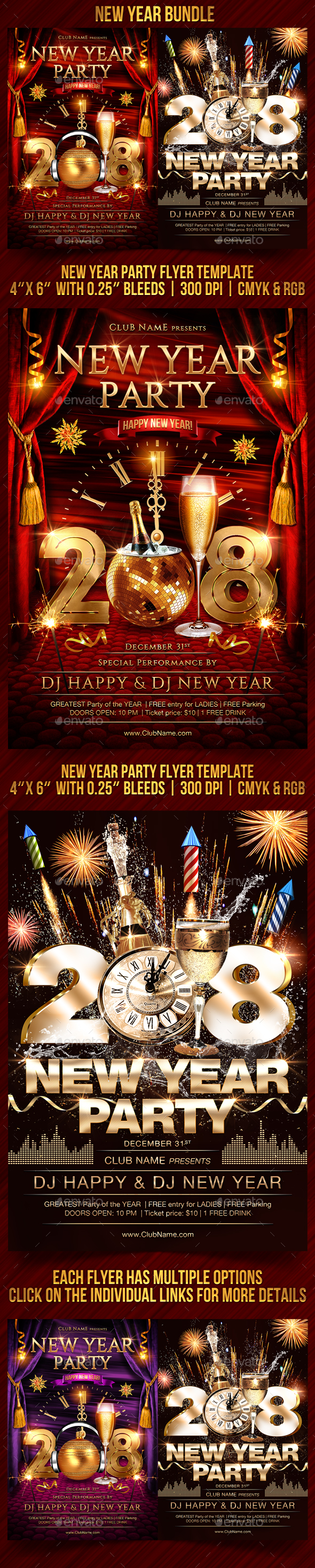 GraphicRiver New Year Bundle 21138985