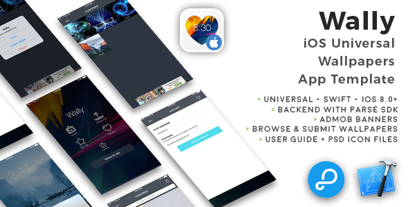 Wally | iOS Universal Wallpapers App Template (Swift) - CodeCanyon Item for Sale
