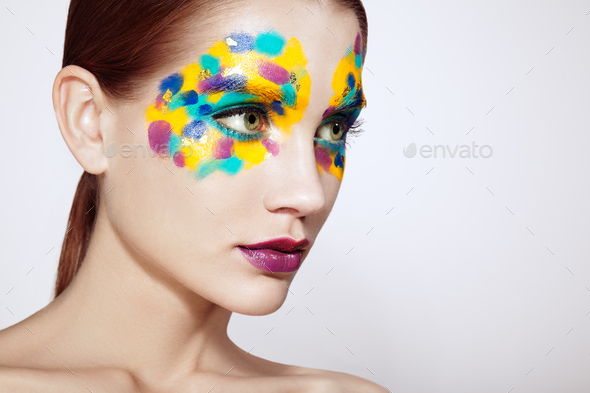 Beautiful woman face - Stock Photo - Images