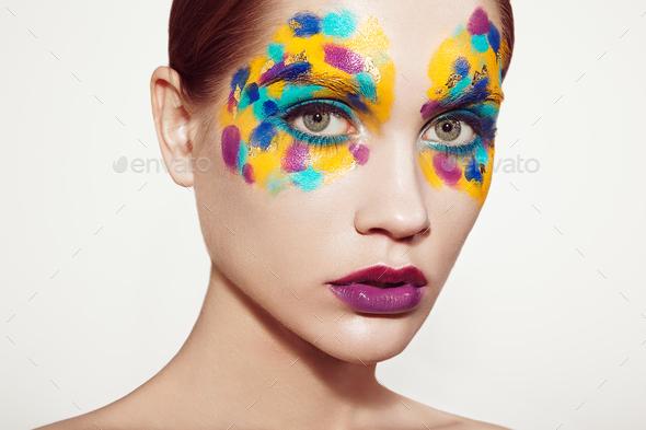 Beautiful woman face - Stock Photo - Images