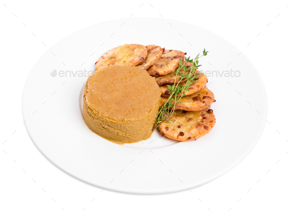 Goose liver pate and cheese scones. - Stock Photo - Images