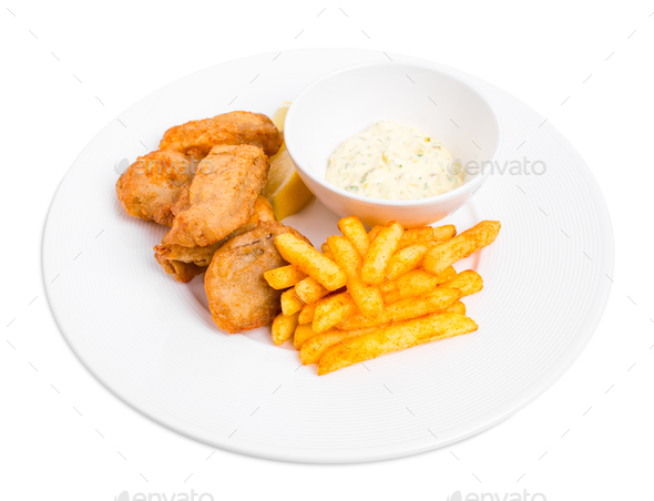Traditional british fish and chips. - Stock Photo - Images