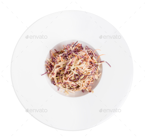 Healthy fresh coleslaw salad. - Stock Photo - Images