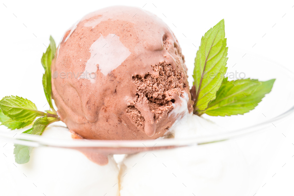 Delicious assorted ice cream in bowl. - Stock Photo - Images