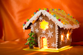 Christmas glazed gingerbread house with sweet pine. - PhotoDune Item for Sale