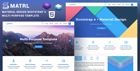Download MATRL |  Bootstrap 4 + Material Design Multipurpose Template            nulled nulled version