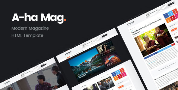 AhaMag | Modern Magazine HTML Template - Entertainment Site Templates
