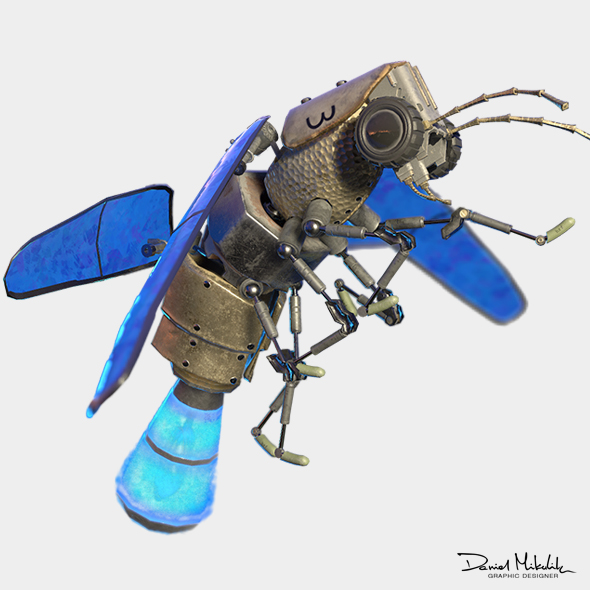 Lightning Bug PBR RIG ANIM - 3DOcean Item for Sale