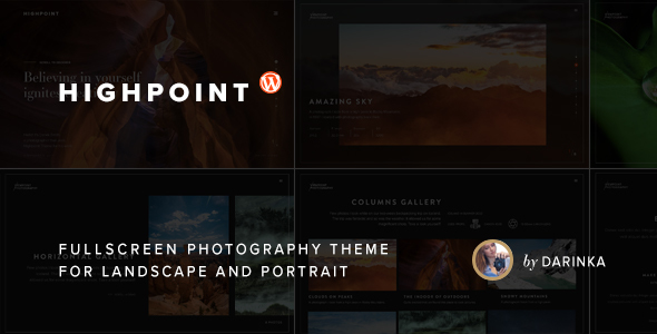 ThemeForest Highpoint Fullscreen Photography WordPress Theme 20142489