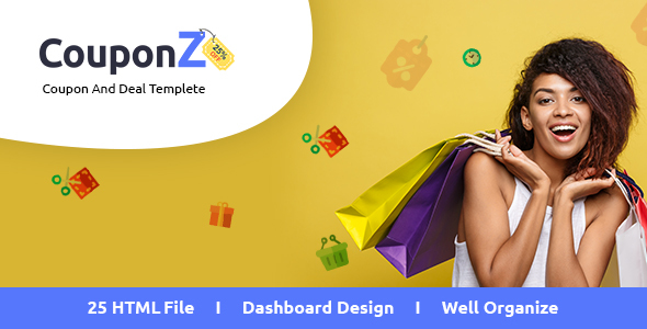 CouponZ - Deals and Coupon HTML Template - Shopping Retail