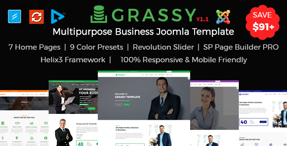 Image of Grassy Business, Corporate and  Finance Joomla Template