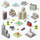 Isometric City Quality Vector Set - GraphicRiver Item for Sale