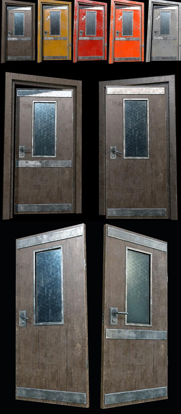 3DOcean Industrial Doors 01 PBR 21139811